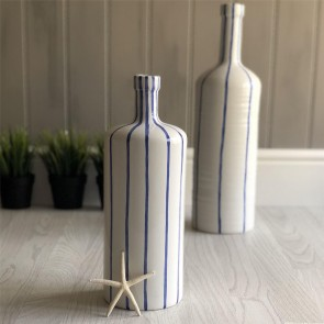 Nautical Blue & White Striped Bottles
