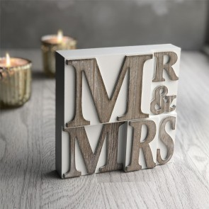 Mr & Mrs Square Plaque