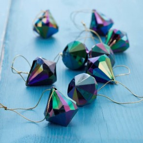Peacock Prism Christmas Tree Decorations