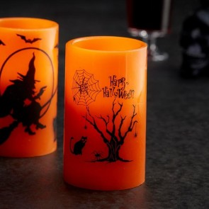 Cat Halloween Battery Candle