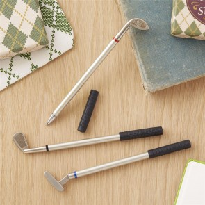 Set Of Three Golf Club Pens