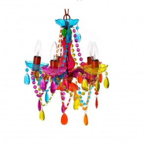 Small Multi Coloured Chandelier