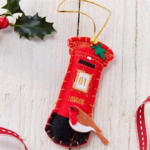 Felt Post Box Christmas Decoration