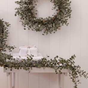 Light Up Eucalyptus Christmas Wreaths