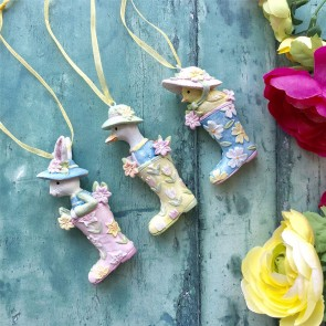 Set of Easter Animals In Boots Decorations