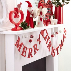 Red Merry Christmas Garland