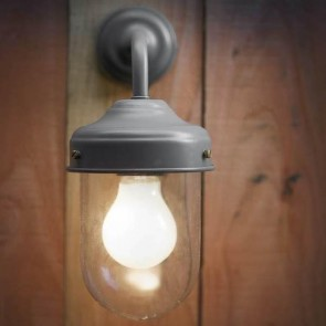 Dark Grey Barn Lamp