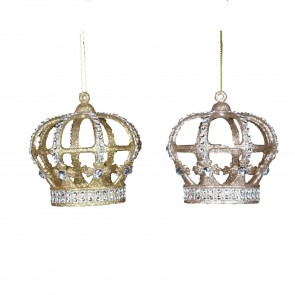 Gold Glitter Crown With Jewels