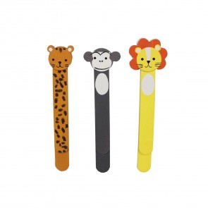 Jungle Wooden Bookmarks - Set of Three