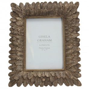 Gold Feather Picture Frame Medium