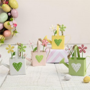 Tin Watering Can Decorations - Set of Four