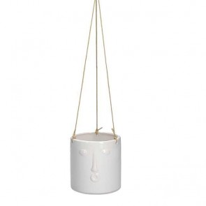 White Face Hanging Pot Cover