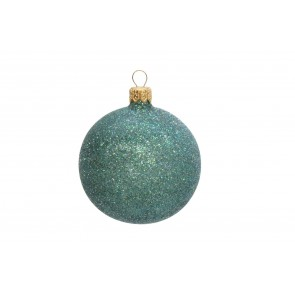 Peacock Blue Glitter Bauble