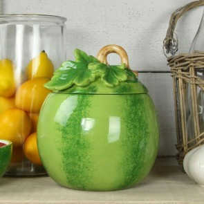 Watermelon Ceramic Pot with Lid