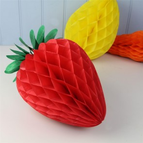 Paper Honeycomb Strawberry Decoration