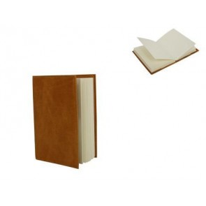 Tan Leather Effect A6 Notebook