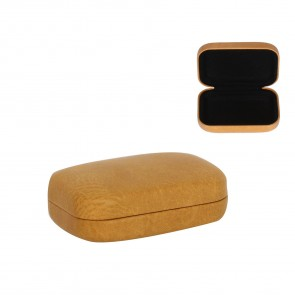 Tan Leather Effect Mini Hard Case
