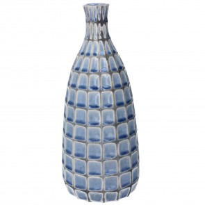 Blue Mosaic Ceramic Decorative Vase - Large