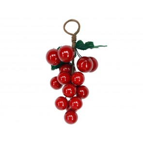 Acrylic Decoration 16cm - Red Berry Cluster
