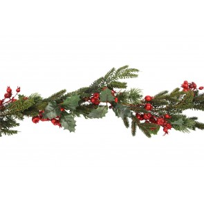 Garland 1.8m - Red Berry/Fir/Holly