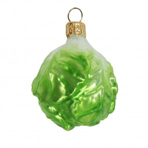 Glass Brussel Sprout Bauble