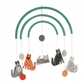 Cats Wooden Hanging Mobile