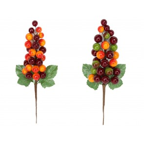 Pick 21cm - Red/Yellow Berry Cluster