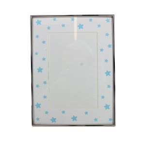 "Blue Stars Picture Frame - 4""x6"""