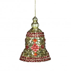 Red And Gold Glitter Bell