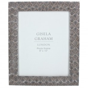 Pewter Deco Fan Picture Frame Large
