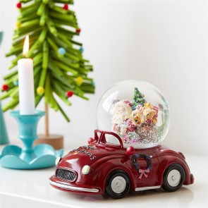 Santa Car Musical Snow Globe