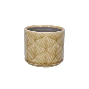 Mini Mustard Wavy Ceramic Pot Cover