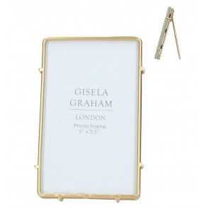 "Gold Edge Picture Frame - 5""x3.5"""