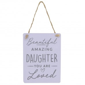 Lilac Wood Beautiful Daughter Decoration