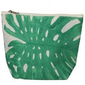 Green Leaves Canvas Zip Pouch