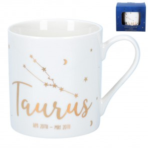 Zodiac Gold Foiled Ceramic Mug - Taurus