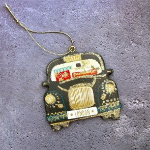 Wooden London Taxi Decoration