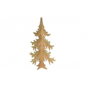 Tree 58cm - Wooden Cut-out/Gold Glitter Tips