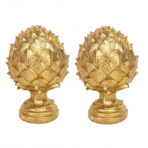 Pair of Gold Artichokes