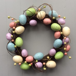 Pastel Easter Egg Easter Wreath