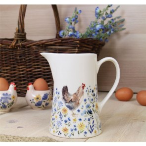 Country Folk Ceramic Jug - Medium