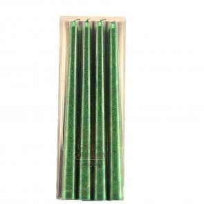 Green Sparkly Dinner Candles