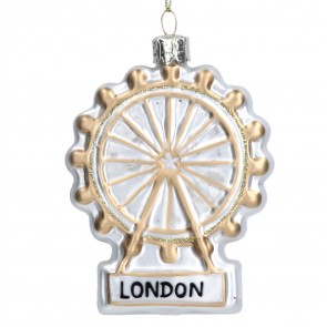 Glass London Eye Christmas Tree Decoration, 9cm