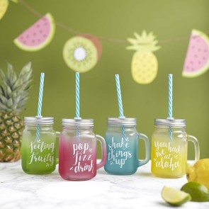 Tropical summer drinking jars