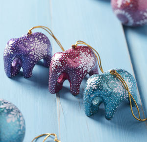Indian elephant christmas decorations
